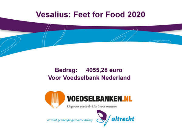 Altrecht Vesalius doneert met 'Feet for Food' actie